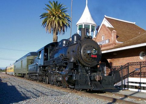 OERM's Steam Engine, (the Ventura County 2) the VC2, at the Perris, California Station.